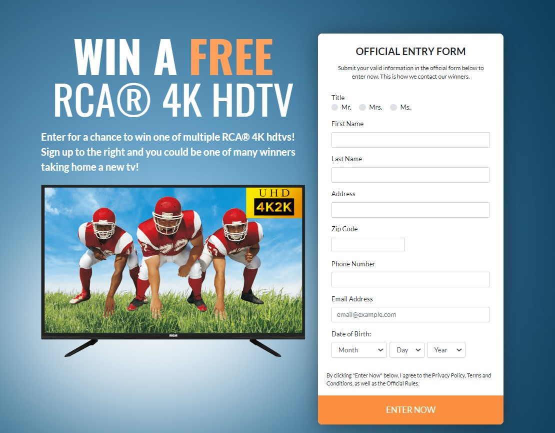 MonthlySweeps- RCA 4K HDTV CPL - USA